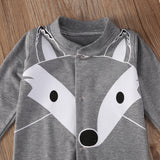 High Quality Unisex Foxy Baby Long Sleeve Romper