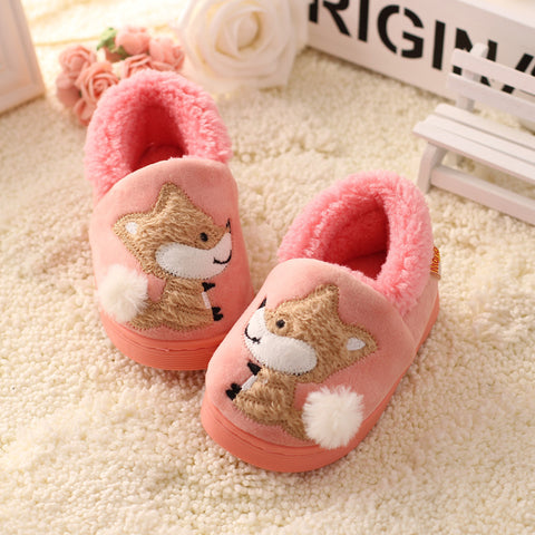 Foxy Winter Bedroom Slippers for Kids
