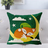 Cute Fox Cushion Cover 45x45cm