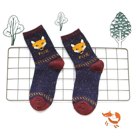 Fox Warm Lovely Casual Sock
