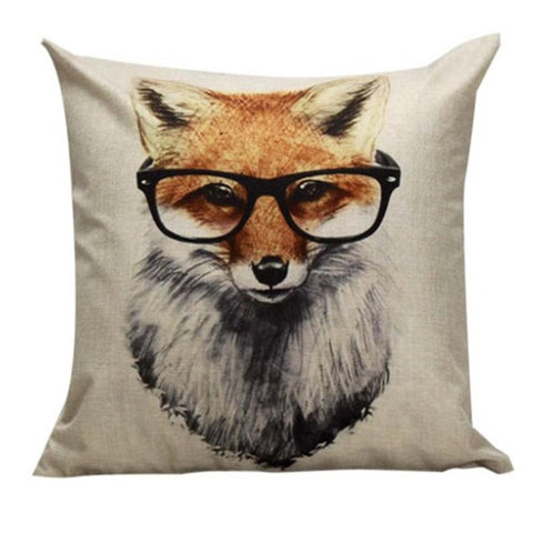 Throw Pillow Cases Foxes Printing 43cmX43cm