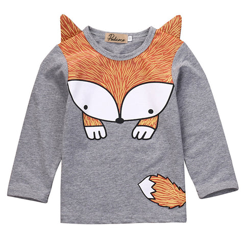 Unisex  Foxy Long sleeve Top for Children