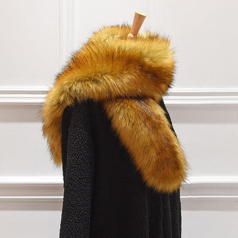 Margaux Wide Faux Fur Scarf and Jacket Collar