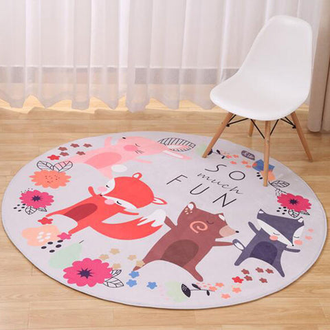 Soft Foxy Round Carpet