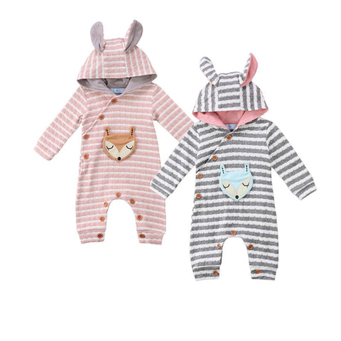 Hooded Fox Rompers for Infant