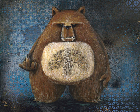"Lisa Pisa "" Ghetto Bear Stare "" Giclee Signed Print"