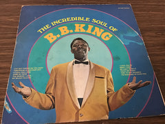 B.B. King The incredible soul of BB King vinyl record as is