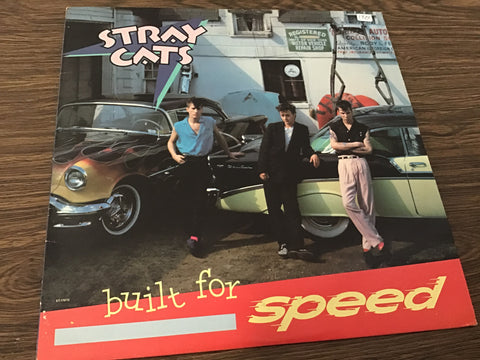 Stray Cats Built for speed vinyl record as is