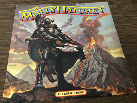 Molly Hatchet the deed is done vinyl record as is