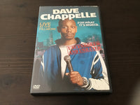 Dave Chappelle Live at the Fillmore - For what it's Worth DVD
