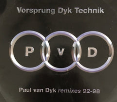 Paul Van Dyke Vorsprung Dyk Technik (4) 12 inch Vinyl Records Used