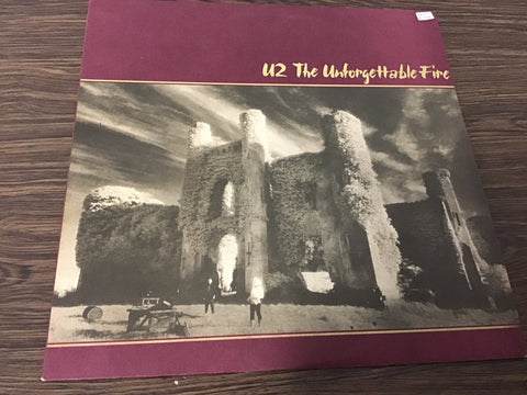 U2 The Unforgettable Fire vinyl record as is