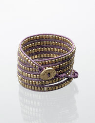 Ultra Violet and Gold Wrap Bracelet