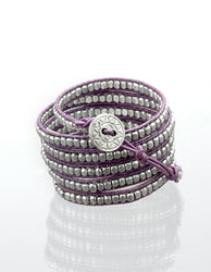 Ultra Violet and Silver Wrap Bracelet