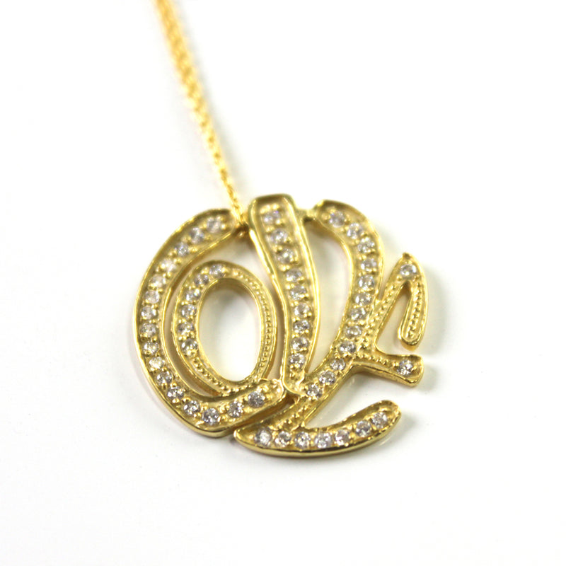 Love Typography Necklace