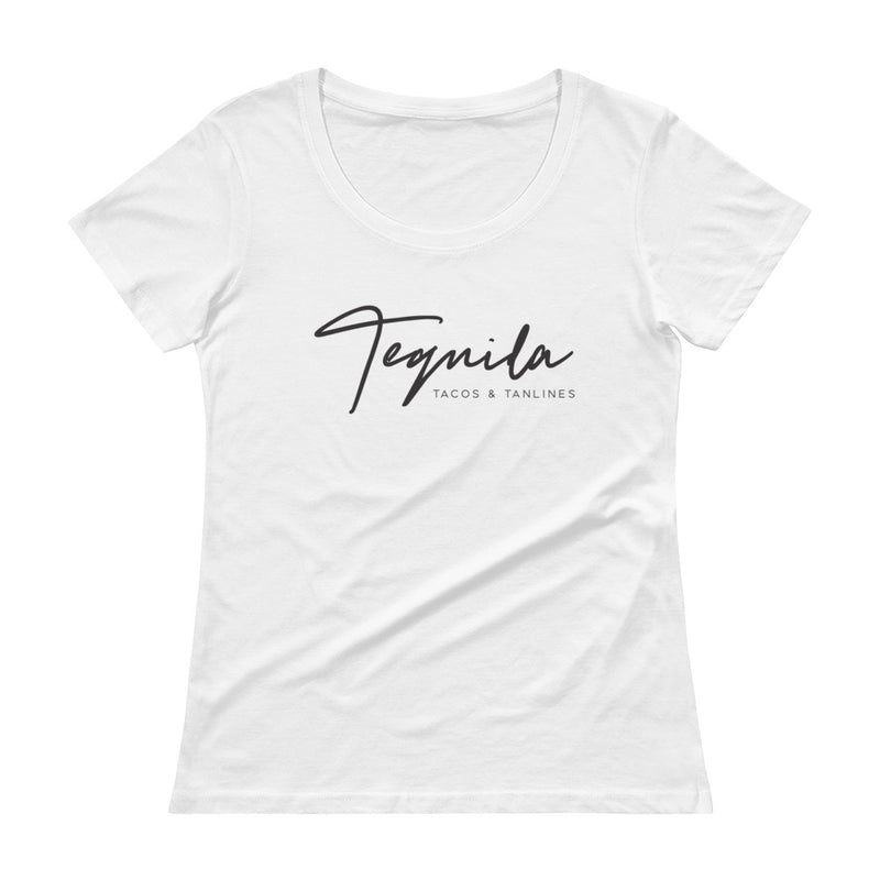 Tequila Tacos And Tanlines Ladies' Scoopneck T-Shirt