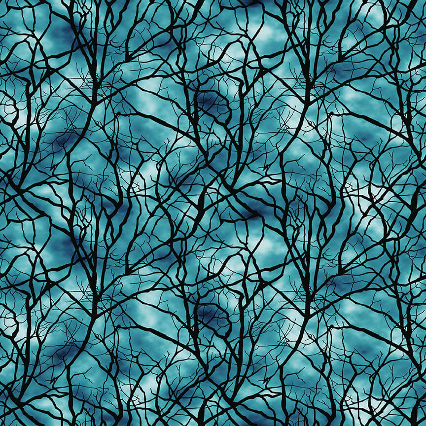 Thriller Night Glow in the Dark Cotton Print - Branches