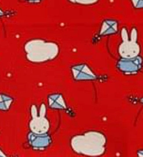 Miffy Cotton Fabric - Kite - per half metre