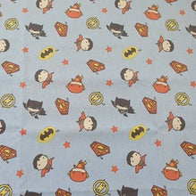 DC Nursery Cotton Print - Characters on Blue
