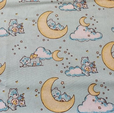 Care Bears Nursery Cotton Print - Sleepy Care Bears