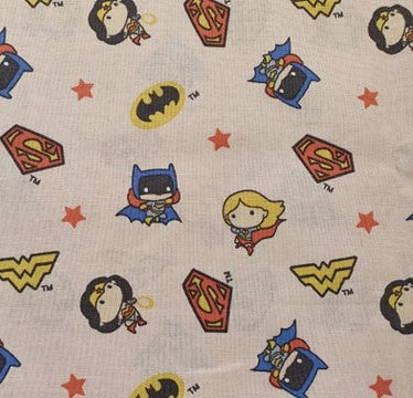 DC Nursery Cotton Print - Characters on Peach