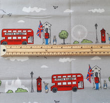 Peter Rabbit Cotton Print - London Street Grey - per half metre