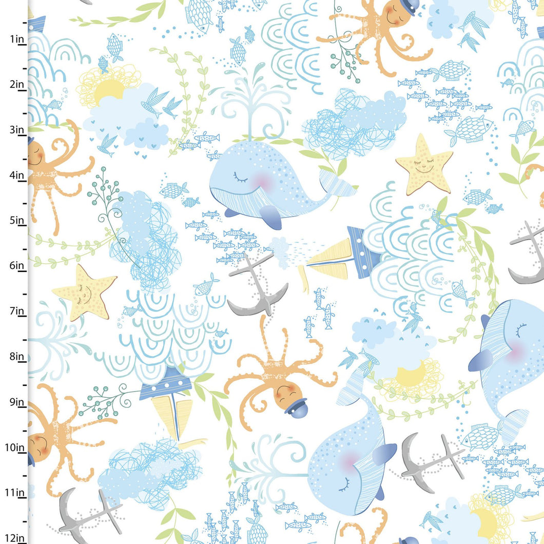 Itty Bittys Fabric Collection - Tossed Sea