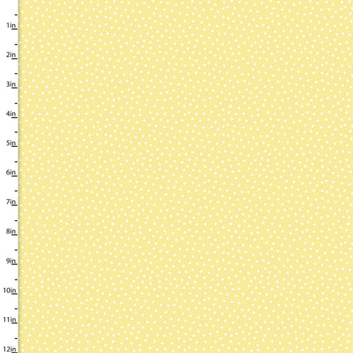 Itty Bittys Fabric Collection - White spots on Yellow