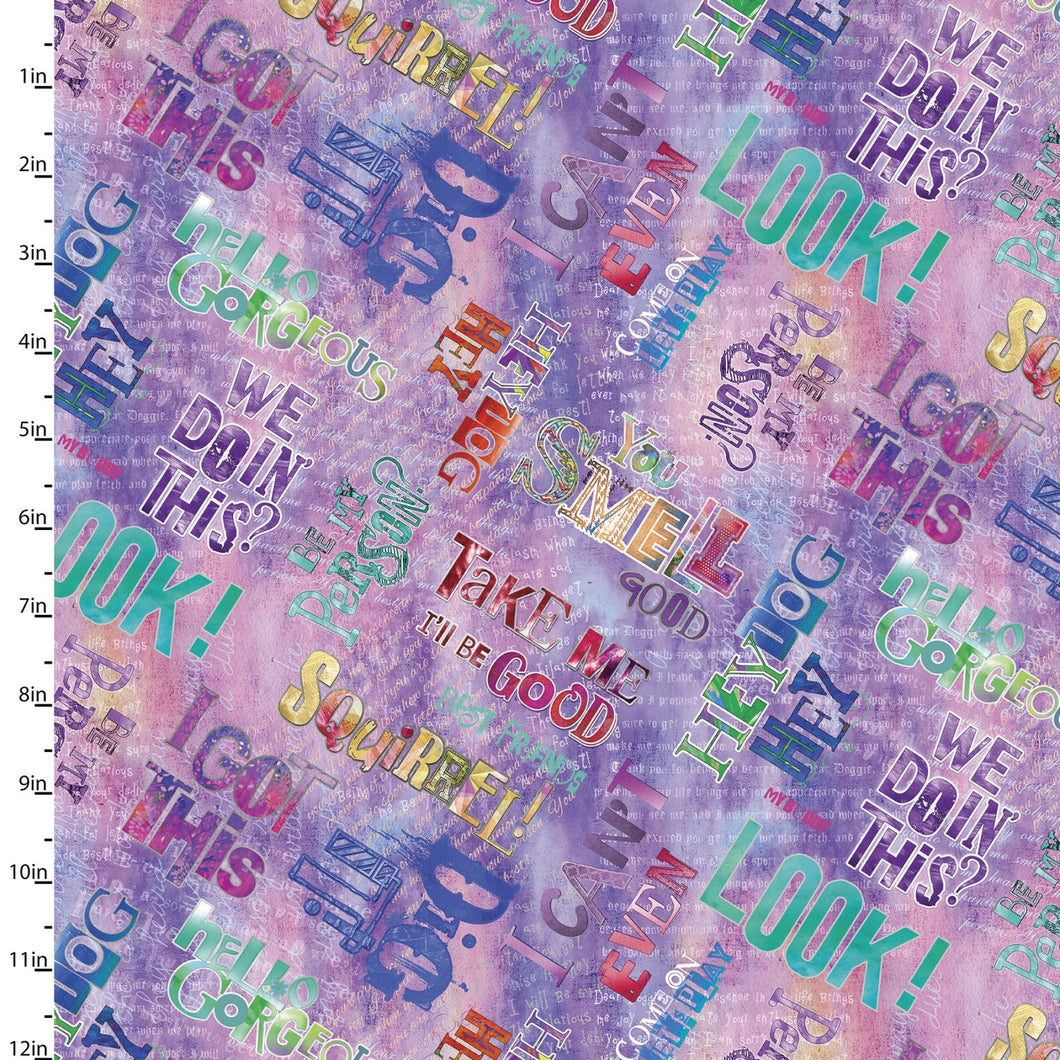 Good Dogs Too Fabric Collection - Words