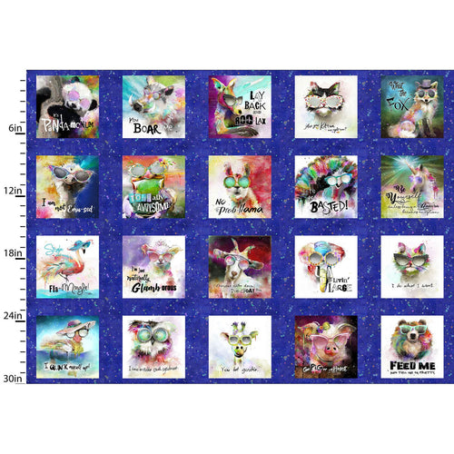 Sassier Animals Fabric Collection - Small Squares