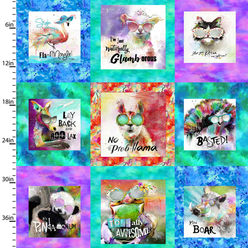 Sassier Animals Fabric Collection - Large Squares