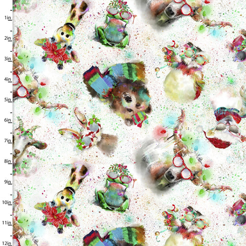 Sassy Holidays Cotton Print - Animals