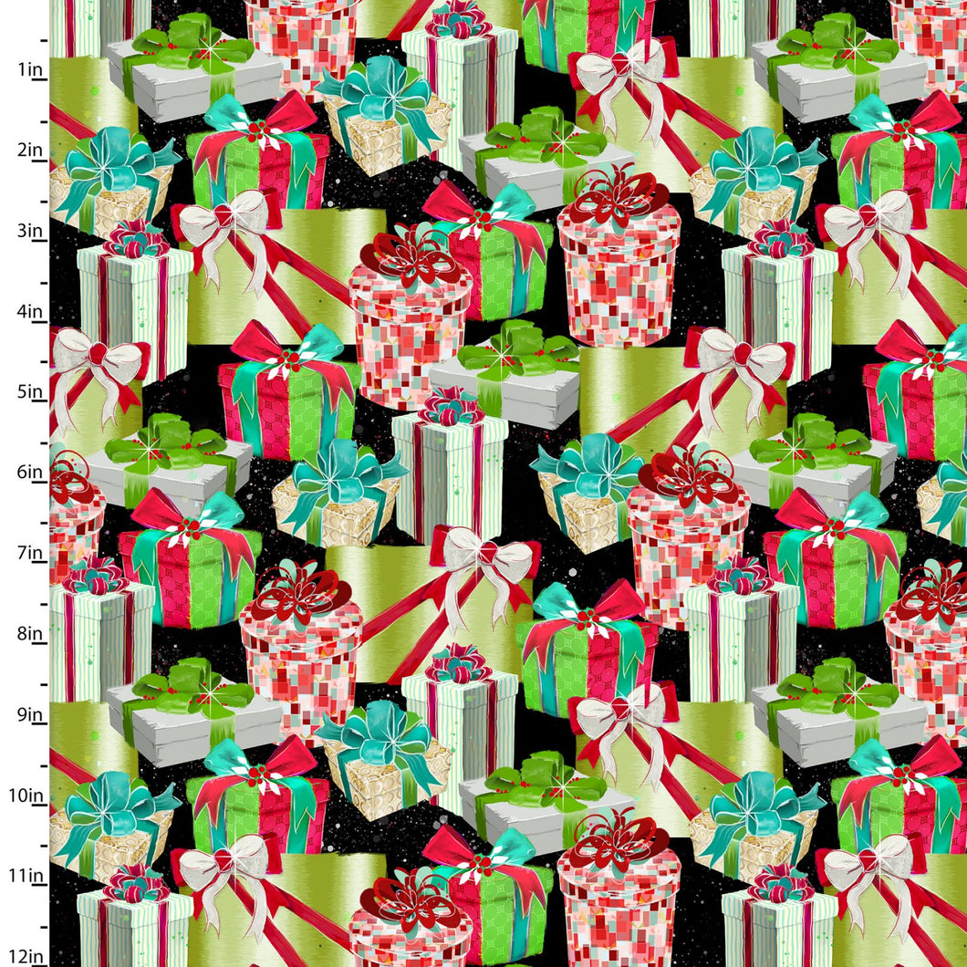 Sassy Holidays Cotton Print - Presents