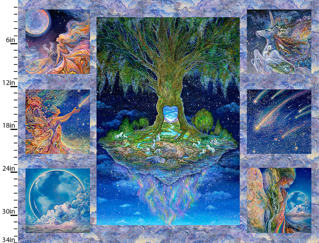 Celestial Journey Cotton Print - Tree Panel