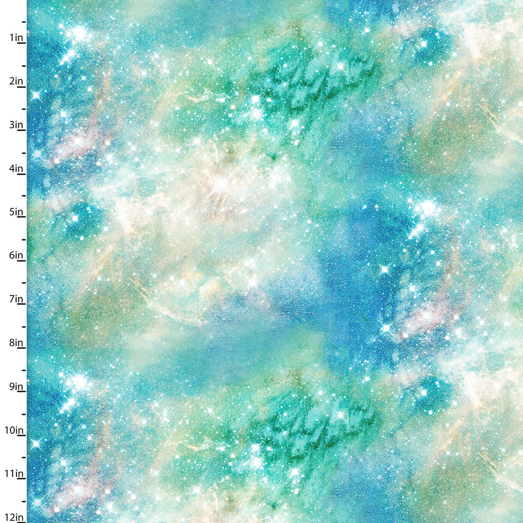 Magical Galaxy Cotton Print - Airglow Sky