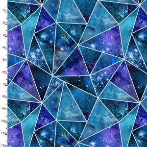 Magical Galaxy Cotton Print - Fractured Twilight