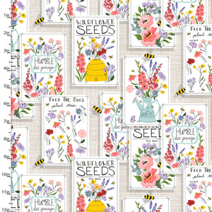 Feed the Bees Ciotton Print - Seed Patch