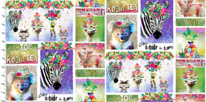 Party Animals Cotton Print - Animal Phrases