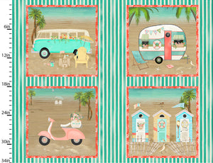 Beach Travel Cotton Print - Picture Panel