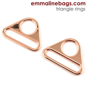 "Triangle Rings: 1.5"" (38mm) - Copper"