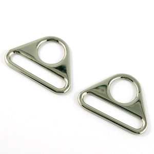 "Triangle Rings: 1.5"" (38mm) - Nickel"