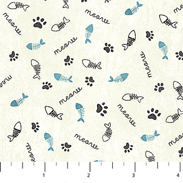 You Had Me At Meow Fabric Collection - Fish Bones