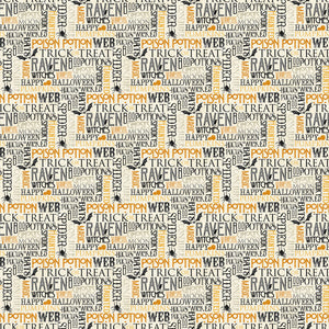 Raven's Claw Fabric Collection - Words on Cream