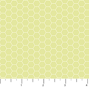 Chelsea Fabric Collection - Honeycomb on Light Soft Lime