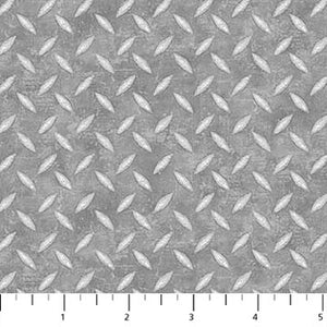 Construction Zone Fabric Collection - Metal Flooring Gray