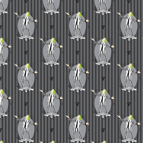 Beetlejuice Cotton Print - Beetlejuice Stripe