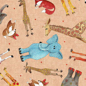 Wild Things Fabric Collection - Tossed Animals