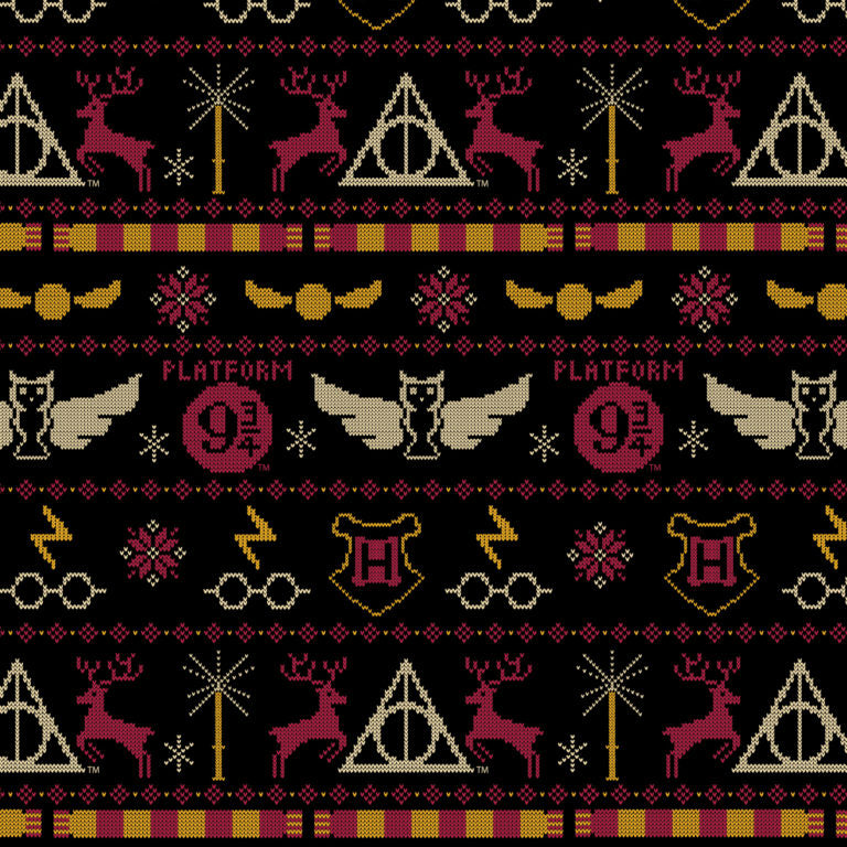 Harry Potter Winter Holiday Cotton Print - Christmas Sweater