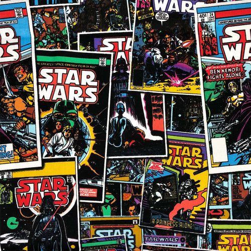 Star Wars Cotton Print - Comic Book