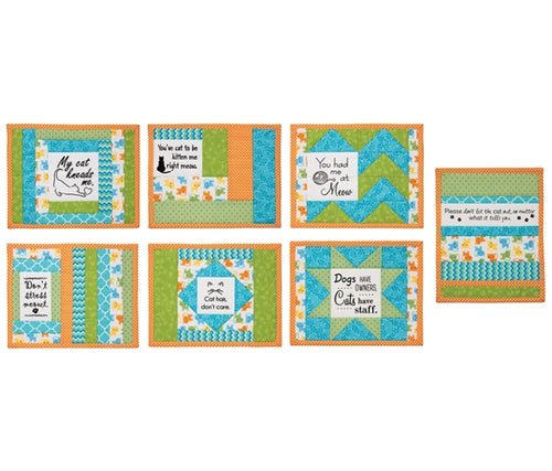 Quilt As You Go Inspirational Mug Mats Pre-printed wadding pack - Daily Mews